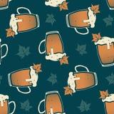 Nahtloses Muster Oktoberfest Stockfoto