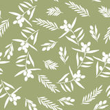 Nahtloses Muster, Olive Stockbilder