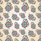 Nahtloses Muster Paisley-Herzens Stockfotografie