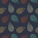 Nahtloses Muster Paisley-Vektors Ethnischer endloser Hintergrund Stockfoto