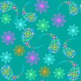 Nahtloses Muster Paisleys und nahtloses Muster im Muster Stockbilder