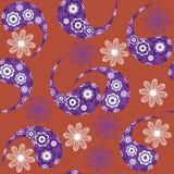 Nahtloses Muster Paisleys und nahtloses Muster in s Stockbilder