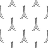 Nahtloses Muster Paris Lizenzfreie Stockfotografie