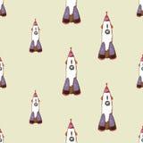 Nahtloses Muster Rockets Stockfotografie
