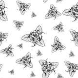Nahtloses Muster Rose2 Stockfoto