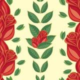 Nahtloses Muster, rote Rosen Lizenzfreies Stockbild