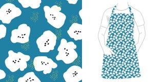 Nahtloses Muster Samen und Blumen lizenzfreie abbildung