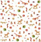Nahtloses Muster: Schätzchen spielt Abbildung Stockfotografie