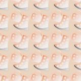 Nahtloses Muster scherzt Schuhe und Tasche Lizenzfreie Stockbilder