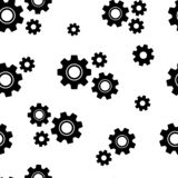 Nahtloses Muster Schwarze G?nge Auch im corel abgehobenen Betrag lizenzfreie abbildung