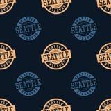 Nahtloses Muster Seattles Stockbild