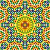 Nahtloses Muster sieben Nawa Stockfoto