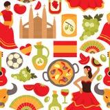 Nahtloses Muster Spaniens lizenzfreie abbildung