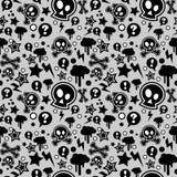 Nahtloses Muster-, städtisches oder Punkpopgefühl lizenzfreie stockfotos