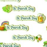 Nahtloses Muster - St- Patricktagthemahintergrund Lizenzfreie Stockfotografie