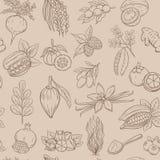 Nahtloses Muster Superfood lizenzfreie abbildung