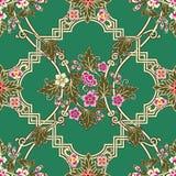 Nahtloses Muster in traditionellem thailändischem Stockbild