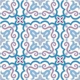 Nahtloses Muster Traditioneller aufwändiger Portugiese deckt azulejos mit Ziegeln Auch im corel abgehobenen Betrag lizenzfreie abbildung
