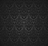 Nahtloses Muster und Tapete des Damastes Stockbilder