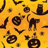 Nahtloses Muster Vektor-Halloweens Stockfotos