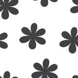 Nahtloses Muster Vektorabbildung mit Blumen stockfoto
