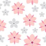 Nahtloses Muster Vektorfrühlingsblumen-Kirschblütes Vektor Abbildung