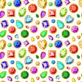 Nahtloses Muster vom Vektorschmuck lokalisiert auf weißem Hintergrund Stockbilder