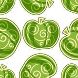 Nahtloses Muster von Äpfeln Lizenzfreie Stockfotos