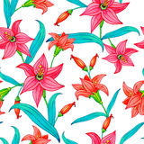 Nahtloses Muster von Aquarellblumen Lizenzfreies Stockbild