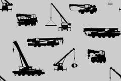 Nahtloses Muster von Autos und von Fahrzeugen Lizenzfreies Stockfoto