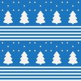 Nahtloses Muster von Bäumen und von Schnee vektor abbildung