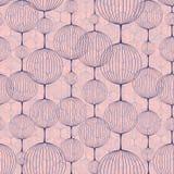 Nahtloses Muster von Ballketten Rose Quartz- und Ruhefarbe stock abbildung