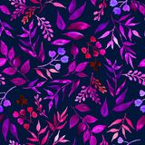 Nahtloses Muster von Blättern, Kräuter, tropische Anlage lizenzfreie abbildung