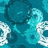 Nahtloses Muster von blauen Kreisen Lizenzfreies Stockbild
