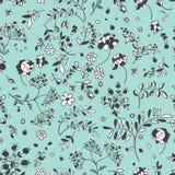 Nahtloses Muster von Blumen, Blätter, Zweige Blumengewebe patch vektor abbildung