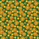 Nahtloses Muster von Blumen und von Marienkäfern Lizenzfreie Stockfotografie