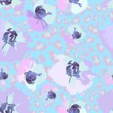 Nahtloses Muster von Blumenorchideen Lizenzfreies Stockfoto