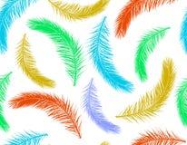 Nahtloses Muster von bunten Blättern des Palmeschattenbildes Auch im corel abgehobenen Betrag stock abbildung