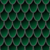 Nahtloses Muster von bunten grünen Fischschuppen, Drachehaut-Vektorhintergrund vektor abbildung