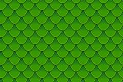 Nahtloses Muster von bunten grünen Fischschuppen Fischschuppen, Drachehaut, japanischer Karpfen, Dinosaurierhaut, Pickel, Reptil Stockbild