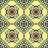 Nahtloses Muster von den abstrakten Elementen lizenzfreie abbildung