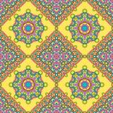 Nahtloses Muster von den abstrakten Elementen stock abbildung