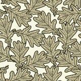 Nahtloses Muster von den Eichenblättern stock abbildung