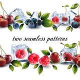 Nahtloses Muster von den Früchten Stockbilder