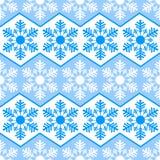 Nahtloses Muster von den Schneeflocken Weiße Schneeflocken auf einem blauen Hintergrund Alle Gegenstände sind auf unterschiedlich Lizenzfreie Stockbilder