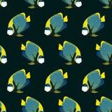 Nahtloses Muster von den Schwimmenfischen vektor abbildung