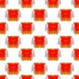 Nahtloses Muster von den Wasserfarbstellen Lizenzfreie Stockfotos