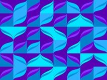 Nahtloses Muster von der blauen Farbe deckt Hintergrund mit Ziegeln Stockfotos