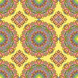 Nahtloses Muster von der ethnischen Art der abstrakten Elemente stock abbildung