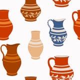 Nahtloses Muster von der keramischen Tonware Lizenzfreie Stockfotos